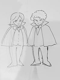 エドガーとアランの四頭身